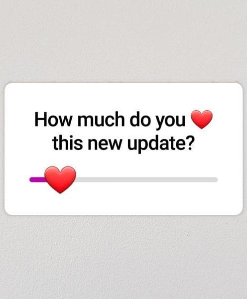 We love Emoji Slider Stickers