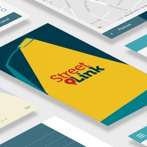 StreetLink mobile website preview
