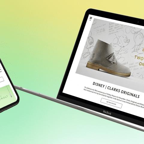 Social content driven brand website for Clarks Originals