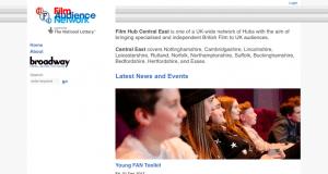 Screenshot of old Film Hub Midlands website