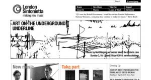 Screenshot of old London Sinfonietta website
