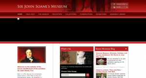 Screenshot of old Sir John Soane's Museum website