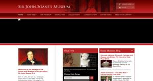 Screenshot of old Sir John Soane's Museum website
