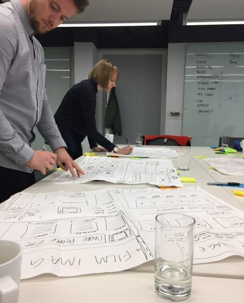 Un.titled brainstorming for website design