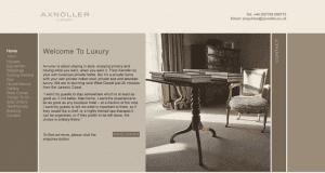 Screenshot of old Axnoller website