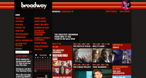 Screenshot of the old Broadway Cinema website