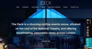 Full screenshot of The Deck's new website
