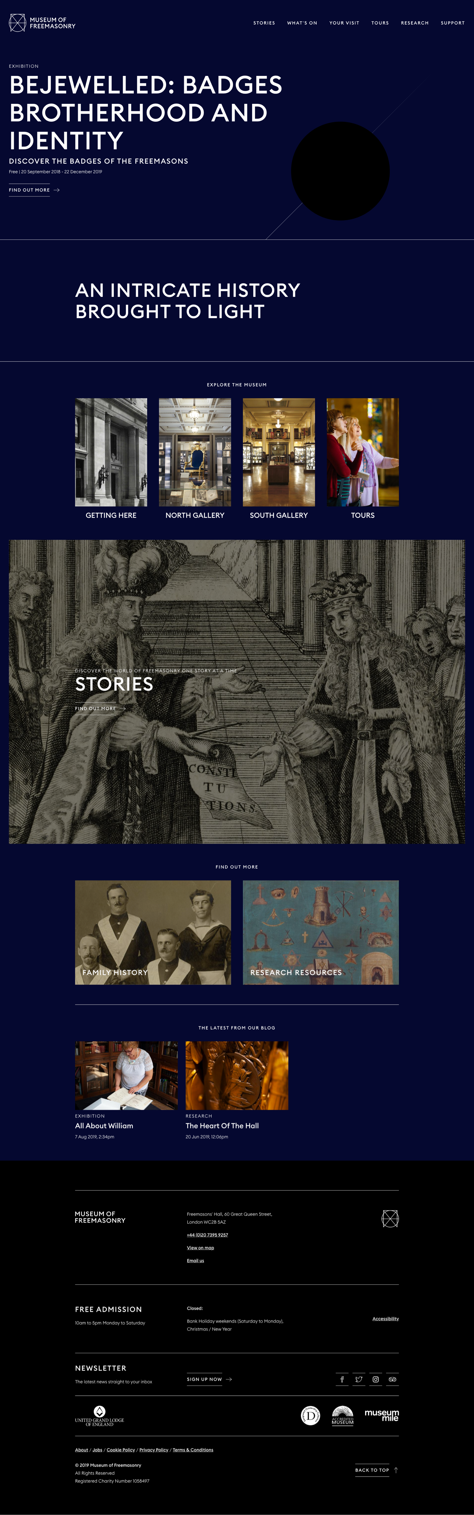 The full Museum of Freemasonry website