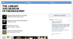 The old Museum of Freemasonry website