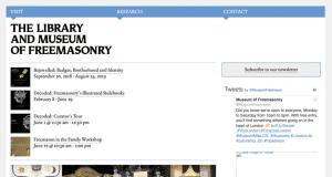 The old Museum of Freemasonry website