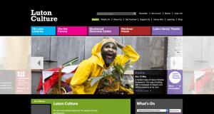 The former Luton Culture Website