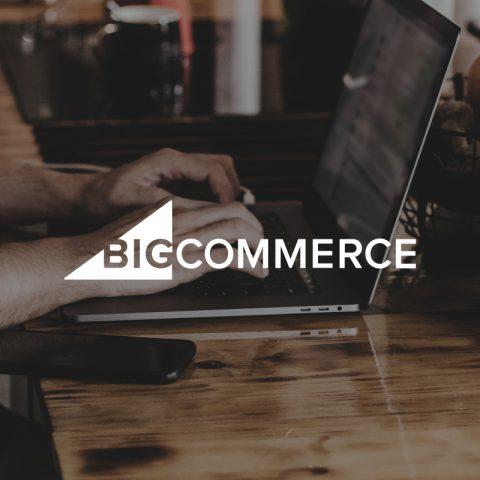 BigCommerce logo on positive image background