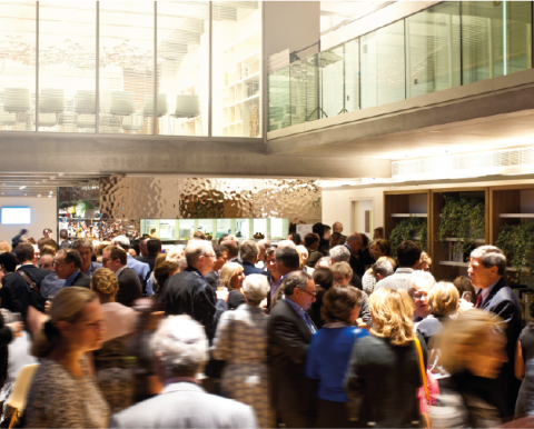 People attending an event at JW3