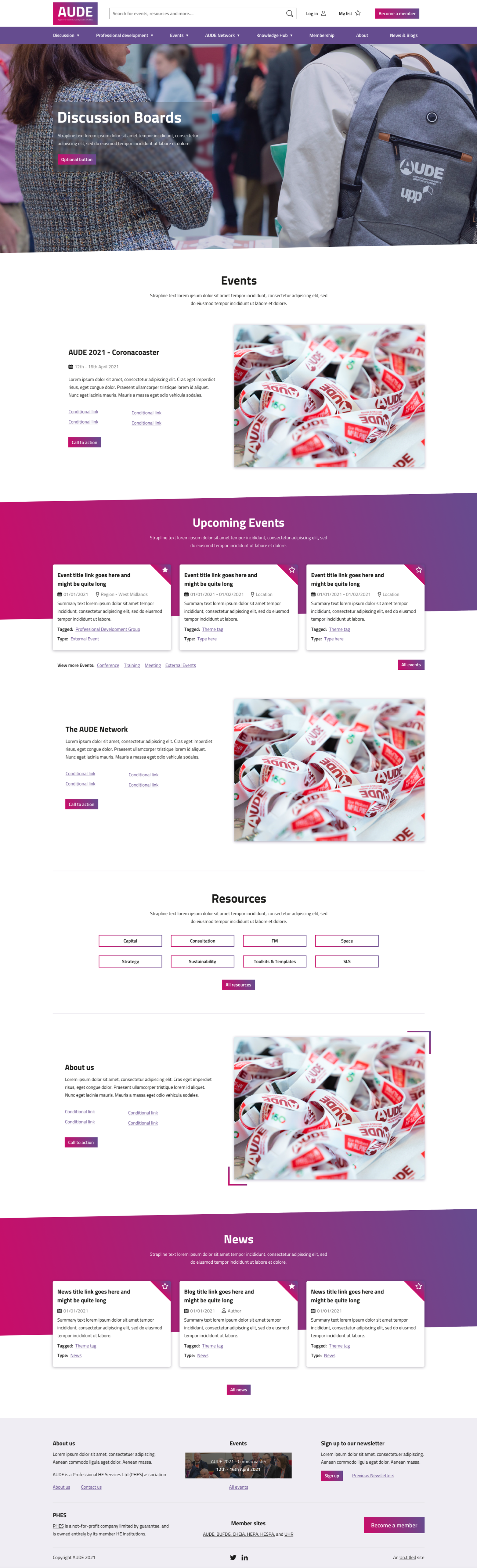 The full site for AUDE, part of PHES