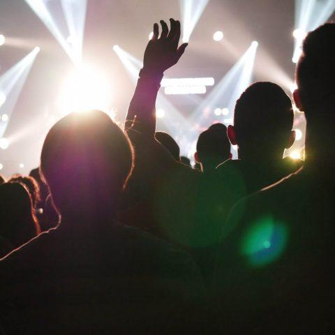 Crowds at a venue